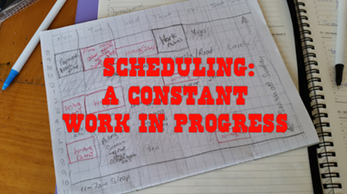 I have a writing schedule. One day I might manage to stick to it!